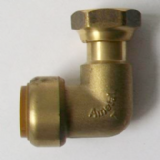 Brass Pushfit Bent Bath Tap Connector 3/4 x 22mm - 27631501